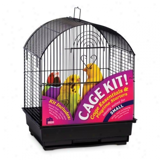 Prevue Fondling Products Round Top Bird Cage Kit - Black