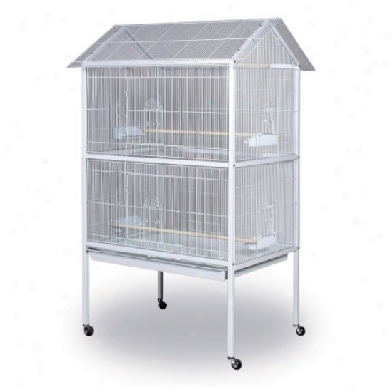 Prevue Pett Products White Aviary Flight Cage With Stand - F030