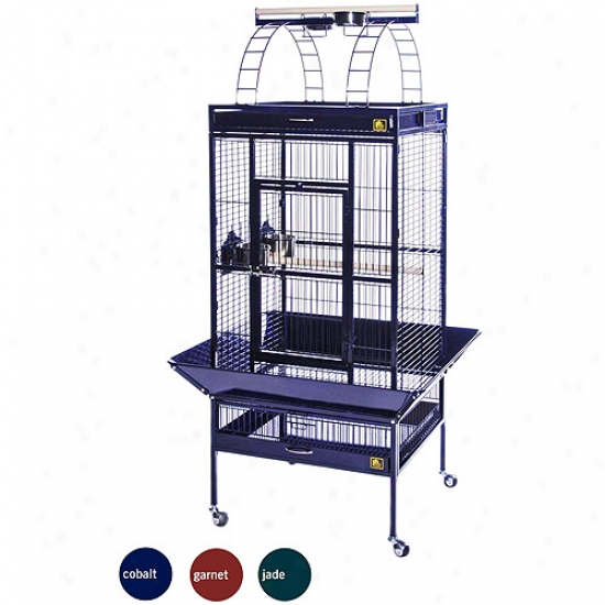 "Prevue Select Wrought Iron Parrot Bird Cage 24x20x60"", Jadw Green"