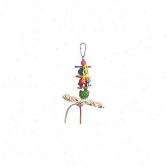 Super Bird Creations 675-00549 Super Bird Creations Vibe Twist T- Bar Swing Bird Toy