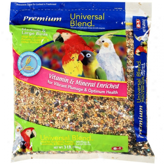 Universal Blend: Premi8m Medium & Abundant Birds Seeds, 3 Lb