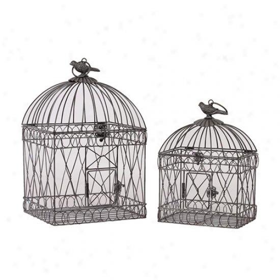 Urban Trends Metal Bird Cages