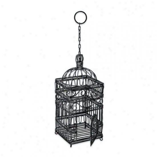 Victorian Decorative Hanging Bird Cage