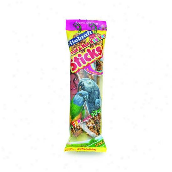 Vitakraft African Nut Sticks Parrot Treat - 2 Pack
