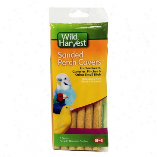 Wild Harvest Sanded Perch Covers Fo Small Birds, 6ct