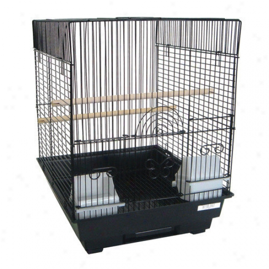 Yml 3/8'' Bar Spacing Flat Top Bird Cage