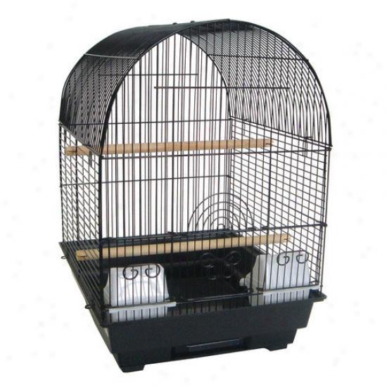 Yml 3/8'' Bar Spacing Round Top Bird Cage