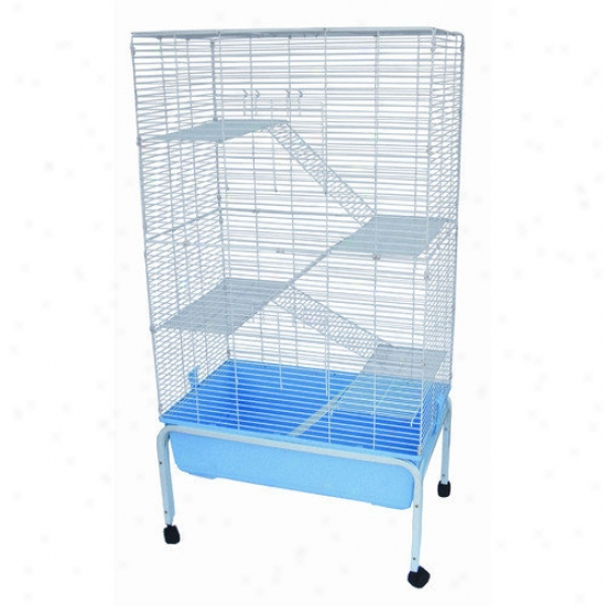 Yml 5 Levels Small Animal Indoor Cage With Stand In Blue