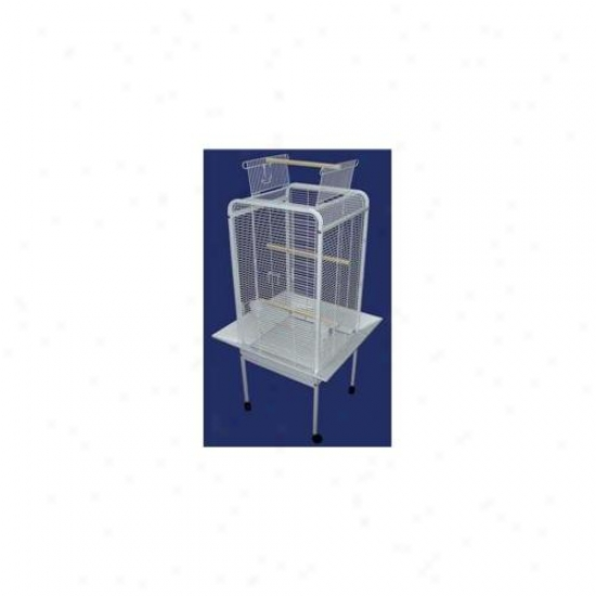 Yml Ef2222wht Play Top Parrot Bird Cage In White