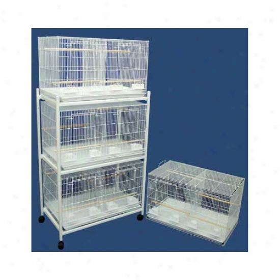 Yml Four Medium Bird Breeding Cages With Divider And One 3 Tier Stand