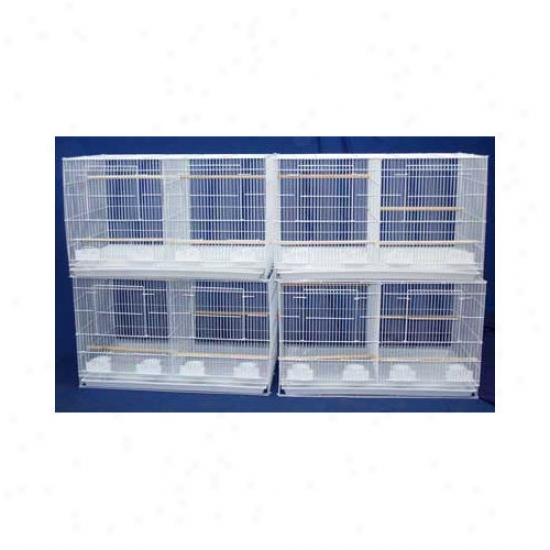 Yml Lot Of Four Medium Bird Breeding Cages With Divider