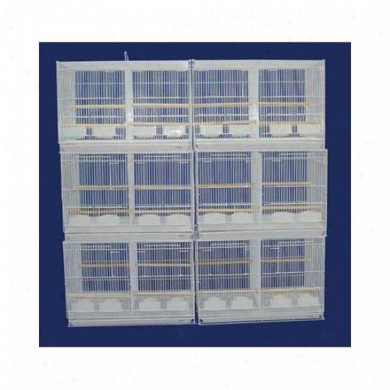Yml Lot Of Six Small Fowl Breeding Cages With Divider
