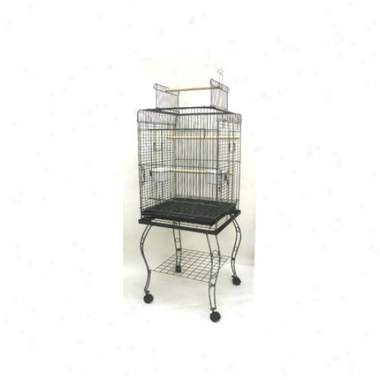 Yml Open Top Parrot Cage With Stand