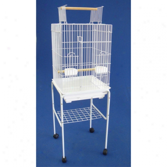 Yml Open Top Small Parrot Cage With Stand