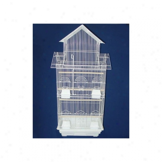 Yml Pagoda Rise above Small Fowl Cage In White