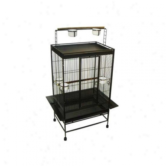Yml Play Top Wrought Iron Parrot Cage