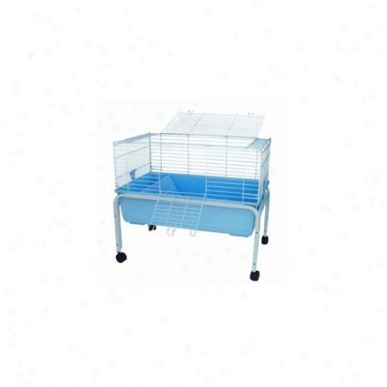 Yml Sa3220-std Small Animal Cage With Stand In Blue