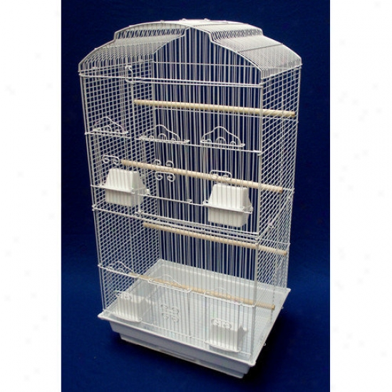 Yml Shall Top Small Fowl Cage In White