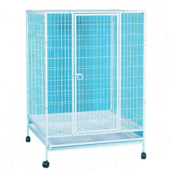Yml Small Animal Cage With Wire Bottom Grate And Plastic Tray