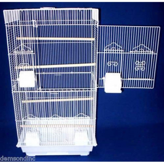 Yml Square Top Small Bird Cage In White