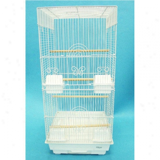 Yml Tall Square 4 Perch Fowl Cage