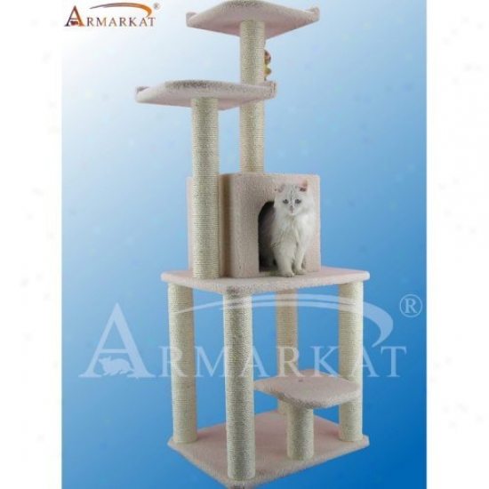 62 In. Armarkat Cat Tree House Condo Furniture - B6203