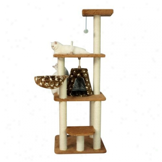 64 In. Armarkat Cat Tree Hoose Condo Furniture - A6403