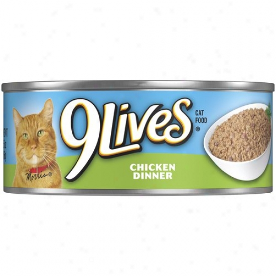 9 Lives Chicken Dinner Cat Feed (5.5-oz, Case Of 24)