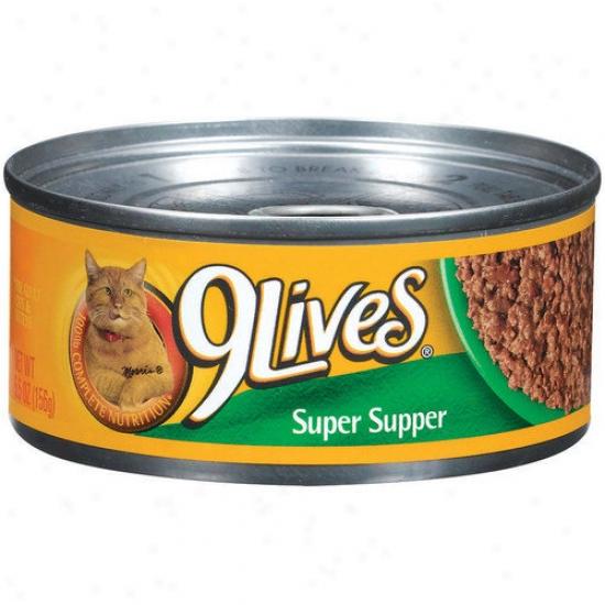 9 Lives Supdr Supper Cat Food (5.5-oz, Case Of 24)