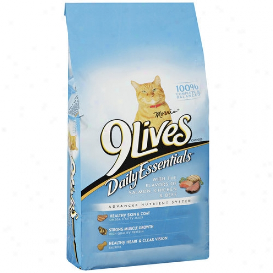 9lives Daily Essentials Cat Food With Flavors Of Salmmon, Chicken & Beef, 6.3 Lb