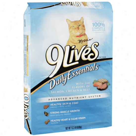9lives Daily Essentials Cat Food With Flavors Of Salmon/chicken & Beef, 13.3 Lb