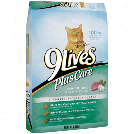 9lives Plus Car Grilled Tuna & Egg Cat Food, 13.3 Lb