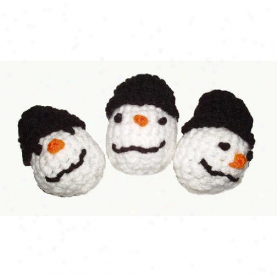 A Pe&t#039;s World Trio Snowman Cat Toys