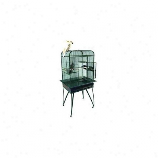 A&e Bird Cages Ae-3-2620b Deluxe Flat Top Bird Cage - Black