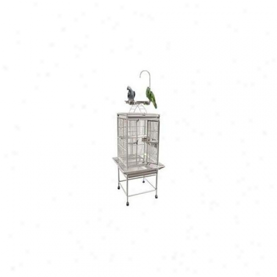 A&e Bird Cages Ae-8002818w Small Play Top Bird Cage - White