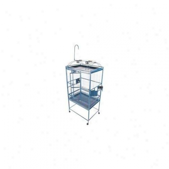 A&e Fowl Cages Ae-8003223p Large Play Top Bird Cage - Platinum