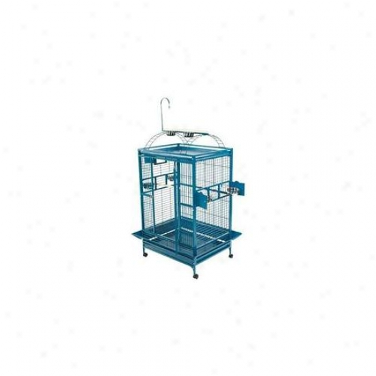 A&e Fowl Cages Ae-8003628p Additional Large Play Top Bird Cage - Platinum