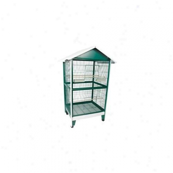 A&e Cages Ae-100b-1 Pitched Roof Aviary - Large