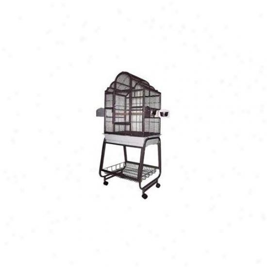A&eC ages Ae-703-b Elegant Victorian Top Fowl Cage - Black