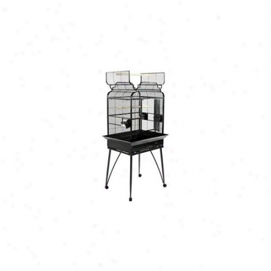 A&e Cages Ae-b-2217-b Fancy Victorian Top Open Top Bird Cage - Black