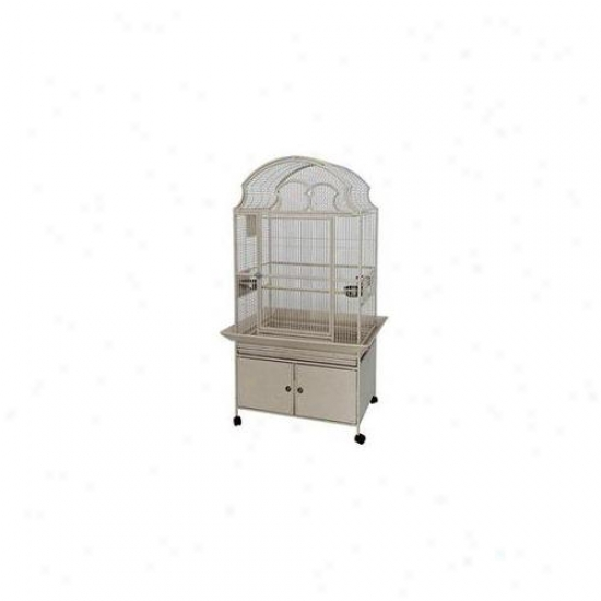 A&e Cages Ae-ry3223-p Medium Fan Top Bird Cage - Platinum