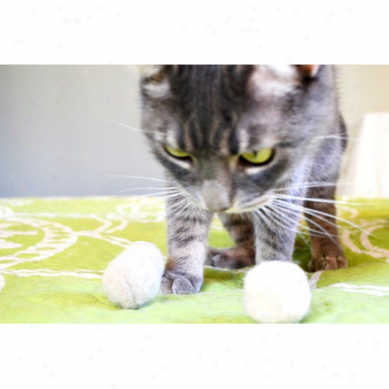 Abo Gear Wool Ball Cat Toy (pack Of 3)