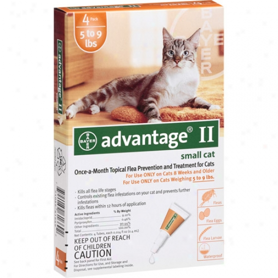 Advantagr Ii Topical Flea Prevention And Handling For Cats 5-9 Lbs, 4ct