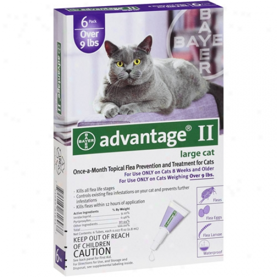 Avantage Ii Topical Flea Prevention And Treatment Over 9 Lbs, 6ct