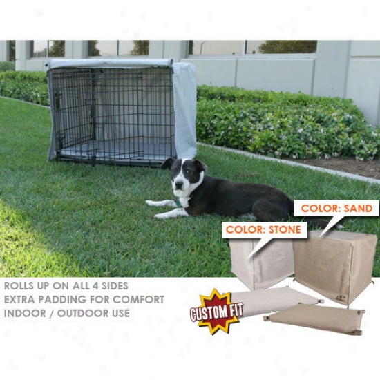Animated Angry mood Basic Training 2-door Dog Crate Cover And Pad Set
