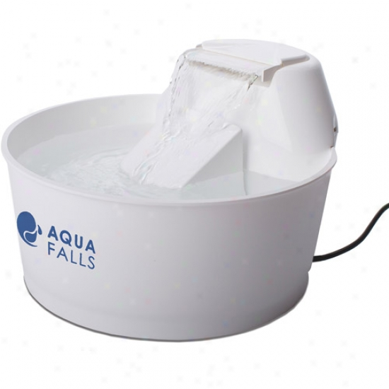 Aquq Fountain Aqua Falls Pet Fountain, 50 Oz