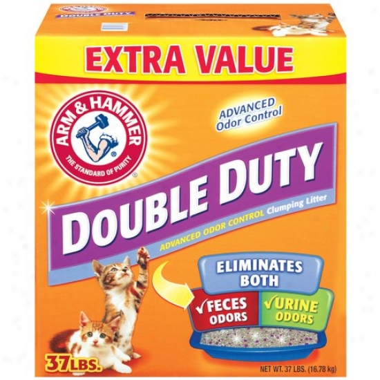 Arm & Hammer Double-duty Advanced Odkr Control Clumping Cat Litter, 37 Lb