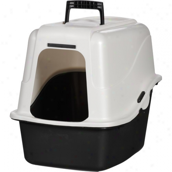 Anterior limb & Hammer Cucullate Cat Litter Pan With Advanced Odor & Scatter Control