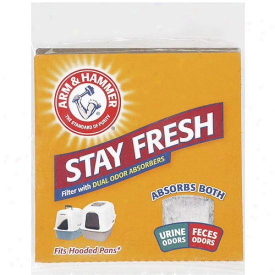 Arm & Hammer Sfay Ftesh Cat Cover with straw Pan Filter With Dual Odor Absorbefs