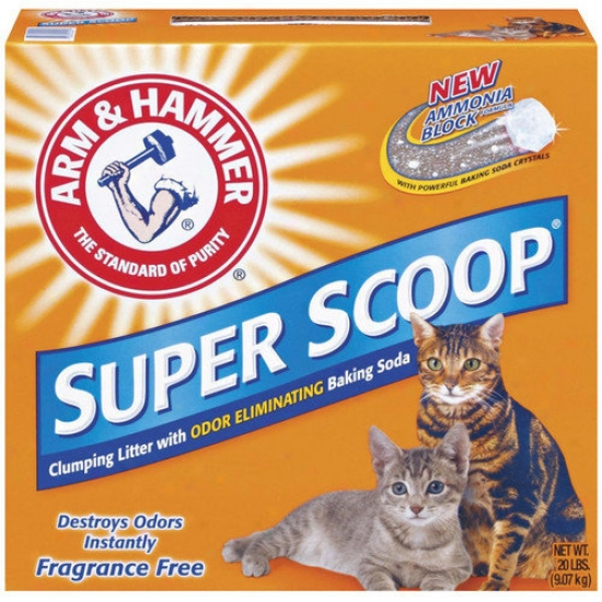 Arm & Hammer Super Scoop Clumping Unscented Litter 20 Pouund